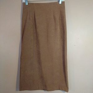 Briggs New York 6P Tan Brown Maxi Skirt
